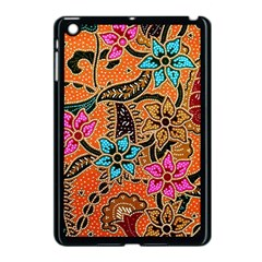 Colorful The Beautiful Of Art Indonesian Batik Pattern Apple Ipad Mini Case (black) by Simbadda