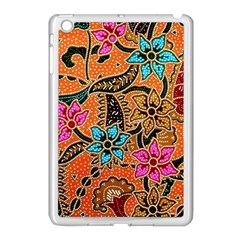 Colorful The Beautiful Of Art Indonesian Batik Pattern Apple Ipad Mini Case (white) by Simbadda