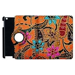 Colorful The Beautiful Of Art Indonesian Batik Pattern Apple Ipad 3/4 Flip 360 Case by Simbadda