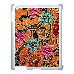 Colorful The Beautiful Of Art Indonesian Batik Pattern Apple Ipad 3/4 Case (white) by Simbadda