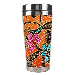 Colorful The Beautiful Of Art Indonesian Batik Pattern Stainless Steel Travel Tumblers by Simbadda