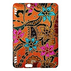 Colorful The Beautiful Of Art Indonesian Batik Pattern Kindle Fire Hdx Hardshell Case by Simbadda