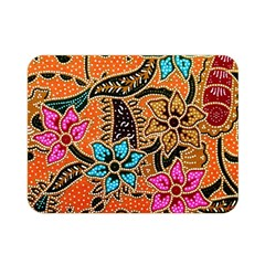 Colorful The Beautiful Of Art Indonesian Batik Pattern Double Sided Flano Blanket (mini)  by Simbadda
