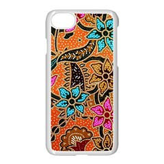 Colorful The Beautiful Of Art Indonesian Batik Pattern Apple Iphone 7 Seamless Case (white) by Simbadda