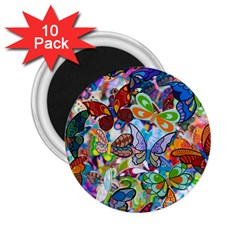 Color Butterfly Texture 2 25  Magnets (10 Pack)  by Simbadda
