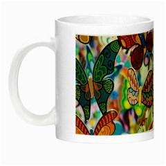 Color Butterfly Texture Night Luminous Mugs by Simbadda