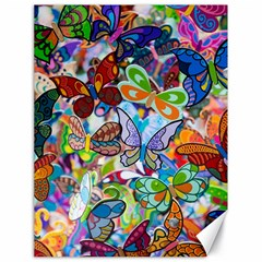 Color Butterfly Texture Canvas 18  X 24   by Simbadda