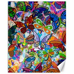 Color Butterfly Texture Canvas 11  X 14   by Simbadda