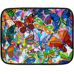 Color Butterfly Texture Fleece Blanket (mini) by Simbadda