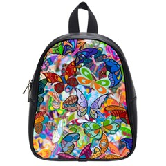 Color Butterfly Texture School Bags (small)  by Simbadda