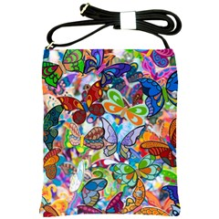 Color Butterfly Texture Shoulder Sling Bags by Simbadda