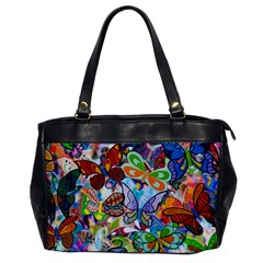Color Butterfly Texture Office Handbags by Simbadda