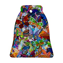Color Butterfly Texture Bell Ornament (two Sides) by Simbadda