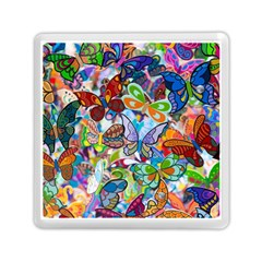 Color Butterfly Texture Memory Card Reader (square)  by Simbadda
