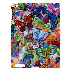 Color Butterfly Texture Apple Ipad 3/4 Hardshell Case by Simbadda