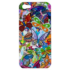 Color Butterfly Texture Apple Iphone 5 Hardshell Case by Simbadda