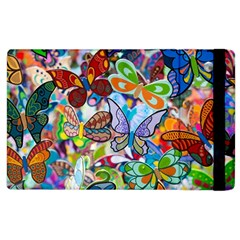 Color Butterfly Texture Apple Ipad 2 Flip Case by Simbadda