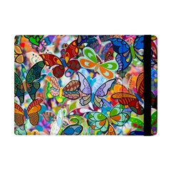 Color Butterfly Texture Apple Ipad Mini Flip Case by Simbadda