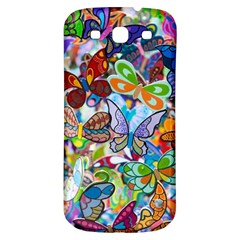 Color Butterfly Texture Samsung Galaxy S3 S Iii Classic Hardshell Back Case by Simbadda