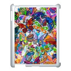 Color Butterfly Texture Apple Ipad 3/4 Case (white) by Simbadda