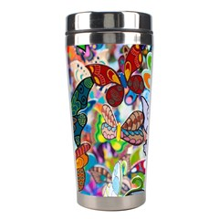Color Butterfly Texture Stainless Steel Travel Tumblers by Simbadda