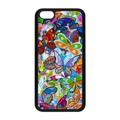 Color Butterfly Texture Apple Iphone 5c Seamless Case (black) by Simbadda