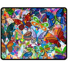 Color Butterfly Texture Double Sided Fleece Blanket (medium)  by Simbadda
