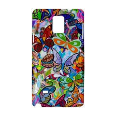 Color Butterfly Texture Samsung Galaxy Note 4 Hardshell Case by Simbadda