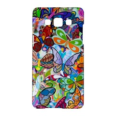 Color Butterfly Texture Samsung Galaxy A5 Hardshell Case  by Simbadda