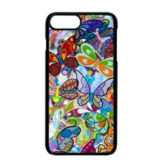 Color Butterfly Texture Apple Iphone 7 Plus Seamless Case (black)