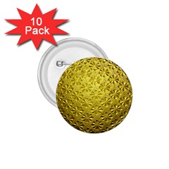 Patterns Gold Textures 1 75  Buttons (10 Pack) by Simbadda