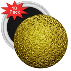 Patterns Gold Textures 3  Magnets (10 Pack)  by Simbadda