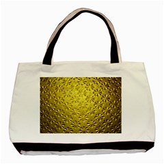 Patterns Gold Textures Basic Tote Bag by Simbadda