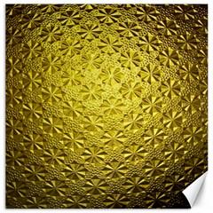 Patterns Gold Textures Canvas 16  X 16   by Simbadda