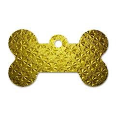 Patterns Gold Textures Dog Tag Bone (two Sides) by Simbadda
