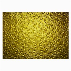 Patterns Gold Textures Large Glasses Cloth by Simbadda