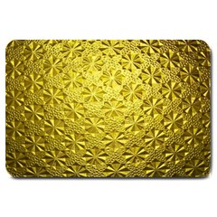 Patterns Gold Textures Large Doormat  by Simbadda
