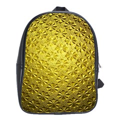 Patterns Gold Textures School Bags(large)  by Simbadda