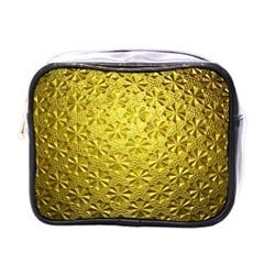 Patterns Gold Textures Mini Toiletries Bags by Simbadda