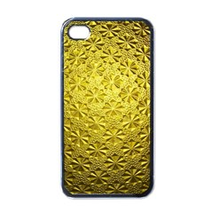 Patterns Gold Textures Apple Iphone 4 Case (black) by Simbadda