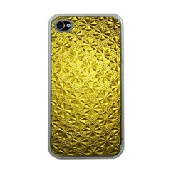 Patterns Gold Textures Apple Iphone 4 Case (clear) by Simbadda