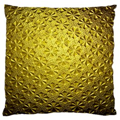 Patterns Gold Textures Large Cushion Case (two Sides) by Simbadda