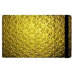 Patterns Gold Textures Apple Ipad 3/4 Flip Case by Simbadda