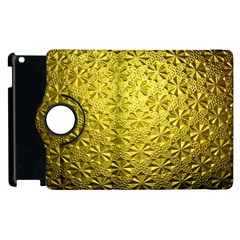 Patterns Gold Textures Apple Ipad 2 Flip 360 Case by Simbadda