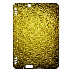Patterns Gold Textures Kindle Fire Hdx Hardshell Case by Simbadda