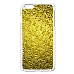 Patterns Gold Textures Apple Iphone 6 Plus/6s Plus Enamel White Case by Simbadda