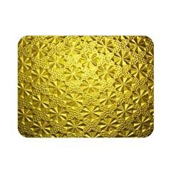 Patterns Gold Textures Double Sided Flano Blanket (mini)  by Simbadda