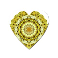 Fractal Flower Heart Magnet by Simbadda