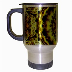 Fractal Flower Travel Mug (silver Gray)