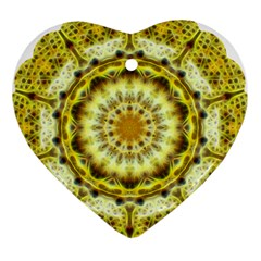 Fractal Flower Heart Ornament (two Sides) by Simbadda